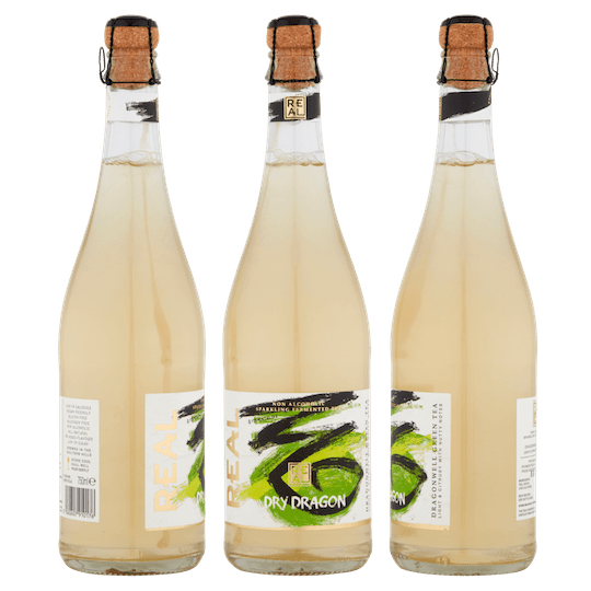 REAL Kombucha Dry Dragon 750ml Cork and Cage Packshot