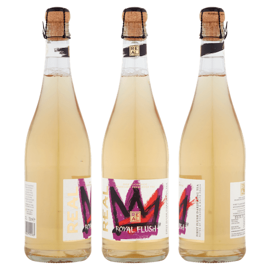 REAL Kombucha Royal Flush Cork and Cage Bottles 750ml