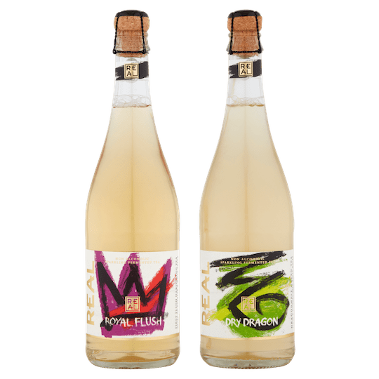 REAL Kombucha Mixed Case Cork and Cage Bottles 750ml